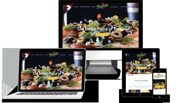 Sichtelemente Portfolio Webseite Pizzeria