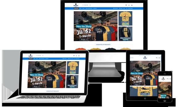 Sichtelemente Portfolio -  T-Shirt Onlineshop