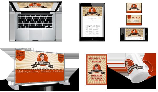 Sichtelemente Portfolio Webseiten